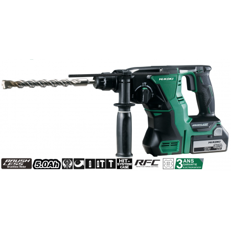Perforateur burineur 18V 5 Ah - DH18DBLWPZ - HITACHI HIKOKI