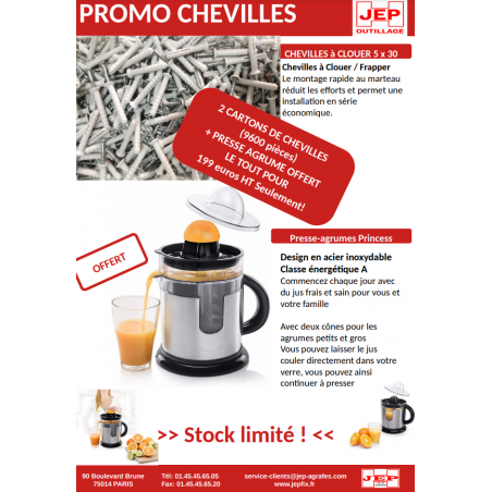 PROMO CHEVILLES A FRAPPER - CLOUER